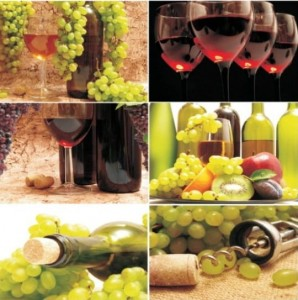 Alfa Cer Alfa-012 Wine Collage 2 60x60 GAT I
