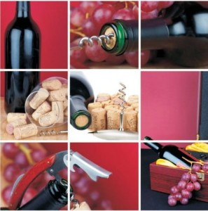 Alfa Cer Alfa-014 Wine Collage 5 60x60 GAT I