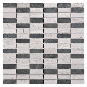 DUNIN Woodstone GREY block mix 48 30,5x30,5 GAT I