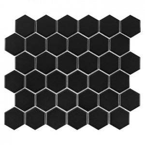 DUNIN  Hexagon Black 51 matt 28,2x27,1